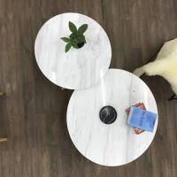 Buy cheap Living Room Round Dining Tabletops Marble Stone Countertops With Metal Base from wholesalers