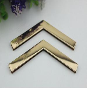 Factory direct sales iron material 105 mm length golden handbag corner protectors for box Manufactures
