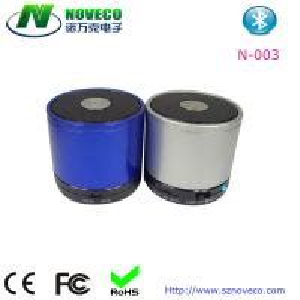 China Bluetooth Wireless Mini Portable Metal Speaker Color Optional Handsfree Mic Phone Tablet on sale