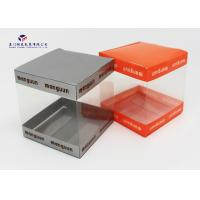 China Super Clear Small Plastic Packaging Boxes, Plastic Retail Boxes Square Shape on sale