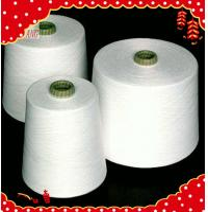 56/1 raw white polyester spun closed virgin yarn instock Manufactures