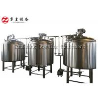 Beverage Factory Automated Beer Brewing System , 1000L 8BBL Microbrewery Equipment Manufactures