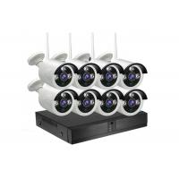 Quality Outdoor 8 Channel NVR CCTV Kit H.265 1080P 2.0MP HD WIFI Wireless IP Cameras for sale