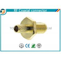 Female Bulkhead Coaxial Connector  50 Ohms for 1.13mm / 1.32mm / 1.37mm Cable Manufactures