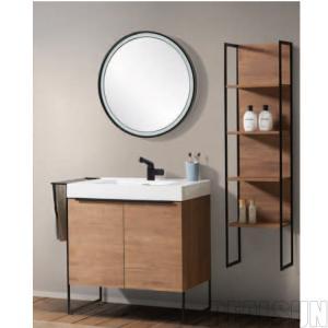 Modern Single Sink Style Metal Frame Bathroom Wash Basin Home Cabinet Bath Vanity Prime Design Hotel Home Center Manufactures