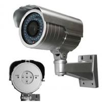 Waterproof Bullet IR Security Cameras CMOS RJ-45 Support two way audio Manufactures