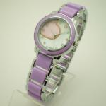 Fashion Purple Quartz Womens Watches , Two Tone Ladies Wrist Watches Manufactures