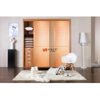 Contemporary Kitchen / Wardrobe Sliding Louvered Closet Doors Opening Smoothly Manufactures