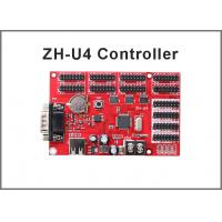 China ZH-U4 display control card USB+RS232 4xhub08 8xhub12 for for P10 single & dule color advertising led sign on sale