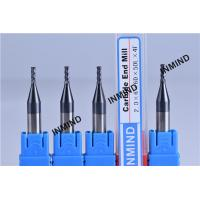 HRC55 Solid Carbide Square End Mill with TiSiN / TiAlN Coating Surface Manufactures