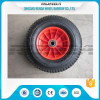 PP Rim Heavy Duty Rubber Wheels Red Color , 2PR All Terrain Caster Wheels OEM Manufactures