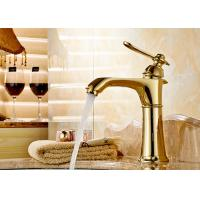 China Luxury Style Gold Bathroom Faucet ROVATE Special Three Layers Construction on sale