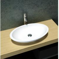 China Fashionable Antique Wash Basin  White Artificial Stone Vessel Sinks on sale