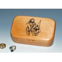 Natural Wood Solid Timber Jewellery Box With Lacquer, Handmade Wooden Ring Gift Box Manufactures