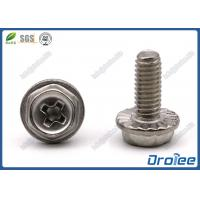China A2/304/18-8 Stainless Steel Philips Hex Washer Serrated Head Machine Screws on sale