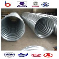 Steel Pipe / Corrugated Steel Pipe Culvert is a flexible structure adapt to different terr Manufactures