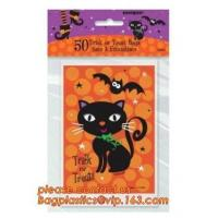 gravure printing halloween party bag, cute design food grade plastic cookie packing,halloween shrink cello treat bags fo Manufactures
