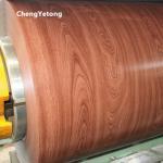 Wood Grain Prepainted Aluminium Coil HDP Coating For Bus Station Decoration Manufactures