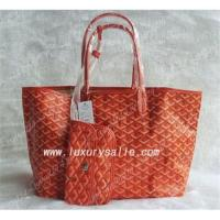 Free shipping Goyard over-sized woman handbag with a wallet in orange Manufactures