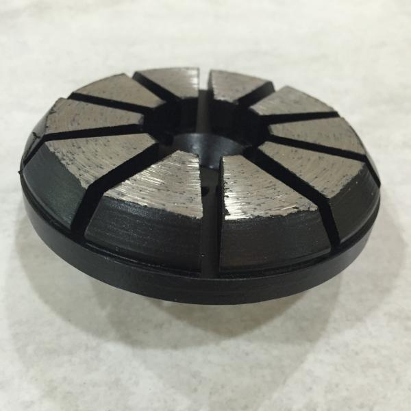 Quality 10 Triangles Segments Diamond Metal Concrete polishing disc 4 Holes Expoxy Floor Grinding Tools for concrete floor for sale