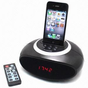 Apple Docking Clock Radio with FM Radio and Clock Alarm Manufactures