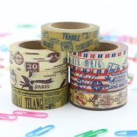 Decorative Thin Gold Washi Tape Rolls Rice Paper Heat Resistant Craft Art Package