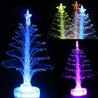 China Colorful LED Fiber Optic Nightlight Christmas Tree Light on sale