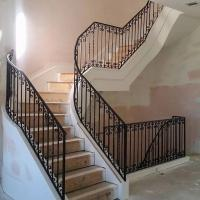 China Spiral Staircase Cast Iron Banister Rails Erosion Resistance Light Weight on sale