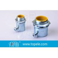Steel Die Cast Zinc Plated EMT Conduit And Fittings / Insulated Connector Manufactures