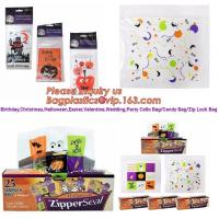 Halloween goodie wedding christmas cookie packaging bread halloween candy bag,Halloween Cute Candy Cello Bags bagplastic Manufactures