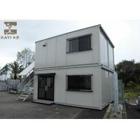 Two - Layer Flat Pack Container House , Flat Pack Metal Containers With Steel Door