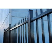 Made in China Australia style black zinc railing tubular steel fence for sale Manufactures