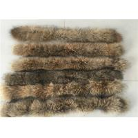 Raccoon Cream Fur Collar For Garment  Accessories , Long Hair Vintage Fur Collar  Manufactures