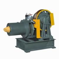 Geared Traction Machine For Elevator / Lift , 0.5 ~ 1.0m/s 2000kg YJ200A Manufactures
