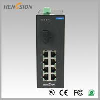 Din rail Lightweight Gigabit Ethernet Switch 8 Electric Port and 1 FX Manufactures