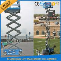 China Mobile Self Propelled Elevating Work Platforms Battery Powered 4m 10m 14m Lift Height on sale