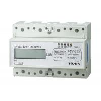 China 7 Module 4 Wire Three Phase Power Meter CT Connection Din Rail KWH Meter on sale