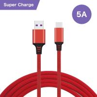 Super - Fast Charging USB Data Cable Type - C Connector 5A For Huawei Manufactures
