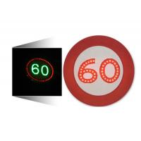 LED Solar Traffic Signs 60 Mph Speed Limit Sign Aluminum Housing Manufactures