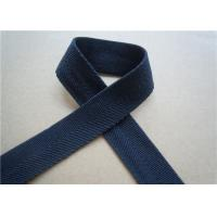 China Blue Printed Elastic Webbing Straps Single Fold 2 Cm Width For Bags on sale