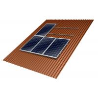 China Home Solar Panel Roof Mounting Systems 10-60° Tilt Angle Anodized Anti - Corrosive on sale