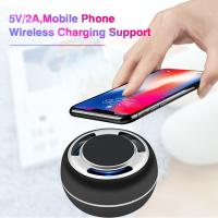 China TWS portable bluetooth speaker mobil phone wireless charging support LED colorful with radio on sale