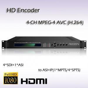 4 IN 1 HD/SD-SDI TO ASI&IP MPEG-4 AVC/H.264 HD AAC Audio Encoding IPTV Encoder REH2204 Manufactures