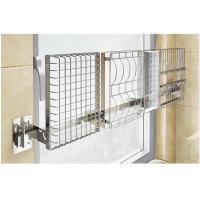 Quality Chrome Home Storage Wall Mounted Kitchen Rack 2 Layers With Hook Organizer for sale