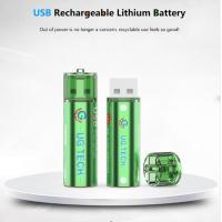 China wholesale 1.5V 1000mAh AA USB type lithium ion battery replace for alkaline batteries Manufactures