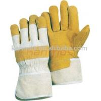 durable High quality Flame / Spark resistant Half lining split Pig Leather Gloves / Glove Manufactures