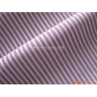 103g/sm High Count 100% Cotton Yarn Dyed , Plain Weave Stripe Fabric Manufactures