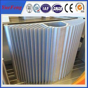 Hot! Large wholesale aluminum fin heat sink / mill finish half round aluminum heatsink Manufactures