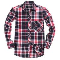 Quality 100% cotton yarn dyed flannel men's long sleeve soft collar fashion shirts for sale