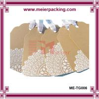 China Custom printing kraft paper hangtags with ribbon, leather shoes hang tags ME-TG006 on sale